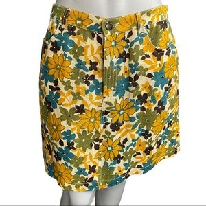 MaxMara Weekend Floral Linen Skirt Size 10